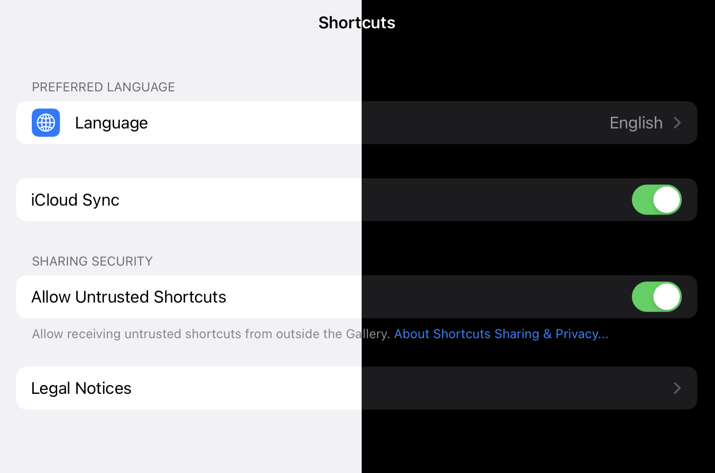 untrusted shortcuts iOS